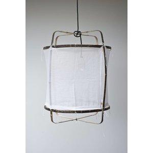 Ay illuminate Hanglamp Z5 zwart/bruin frame met katoen cover