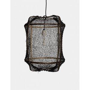 Ay illuminate Hängelampe Z5 brauner Rahmen mit Sisalnet schwarz