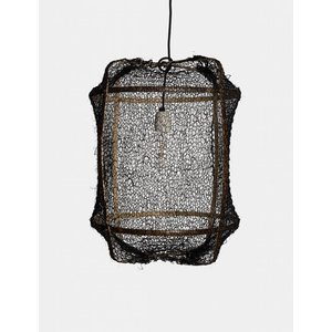 Ay illuminate Hanging lamp Z5 brown with sisal net black