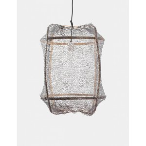 Ay illuminate Hanging lamp Z5 brown with sisal net grey