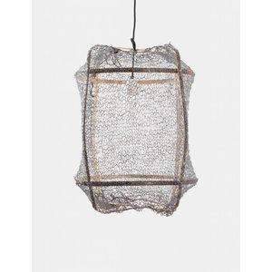 Ay illuminate Hanglamp Z5 bruin frame met sisal net grijs