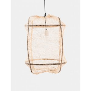 Ay illuminate Hanging lamp Z5 black with sisal net