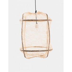 Ay illuminate Hanglamp Z5 zwart frame met sisal net