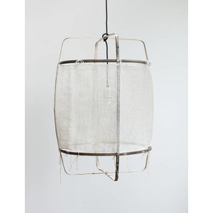 Ay illuminate Hanging lamp Z11 black with silk white cashmere