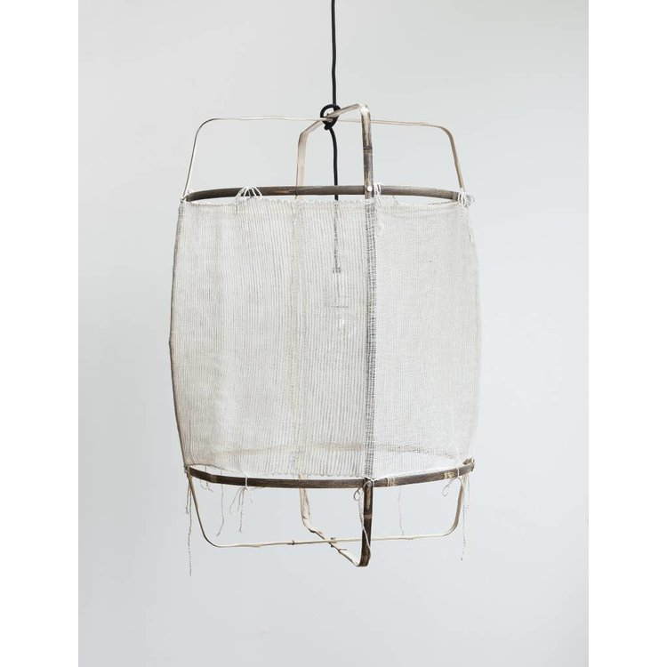 Ay illuminate Ay illuminate Hanging lamp Z11 black with silk white cashmere