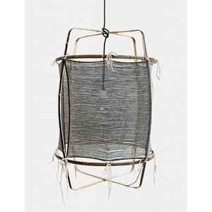 Ay illuminate Hanging lamp Z11 black with silk dark cashmere