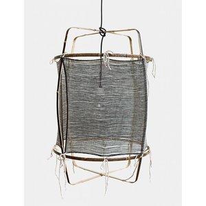 Ay illuminate Hanglamp Z11 zwart zijde donker kasjmier