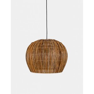 Ay illuminate Hanging lamp Bell rattan naturel small