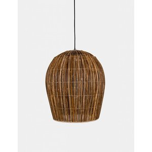 Ay illuminate Hanging lamp Bulb rattan naturel large