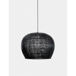 Ay illuminate Hanging lamp Buri rattan black small