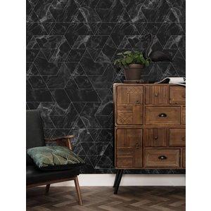 KEK Amsterdam Fotobehang Marble mozaik zwart