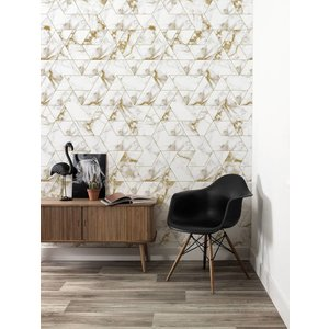 KEK Amsterdam Photo Wallpaper Marble mosaic gold