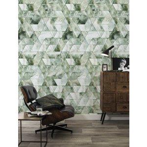 KEK Amsterdam Fotobehang Marble mozaik groen