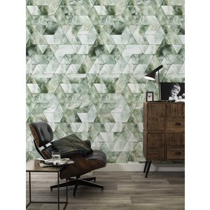 KEK Amsterdam Photo Wallpaper Marble mosaic green