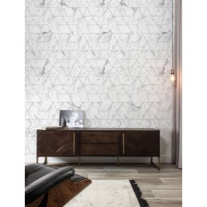 KEK Amsterdam Photo Wallpaper Marble mosaic white