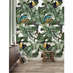 KEK Amsterdam Photo Wallpaper Botanical Birds white