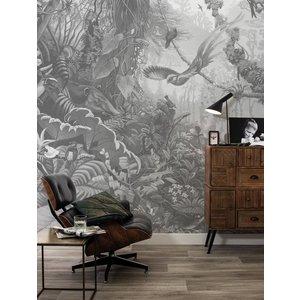 KEK Amsterdam Fotobehang Tropical Landscapes zwart/wit