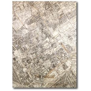 BRANDTHOUT. Wandbild Stadtplan Den Haag | Wanddekoration Holz