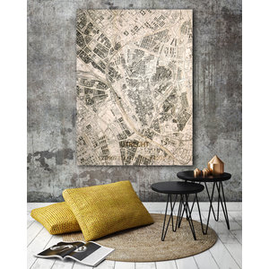 Fonkelnieuw Wanddecoratie Citymap Utrecht | Houten wandpaneel | Houten RS-35