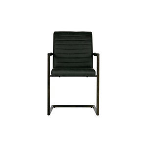 WOOOD Bas Dining Chair Pu Anthracite