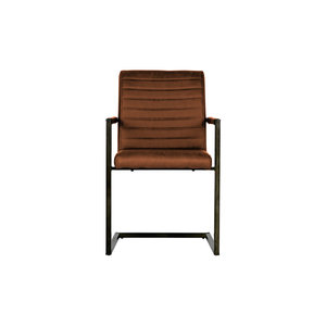 WOOOD Bas Dining Chair Pu Cognac