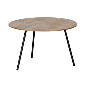 WOOOD Side Table Rodi L wood metal brown