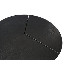 WOOOD WOOOD Beistelltisch Rodi M holz metal schwarz
