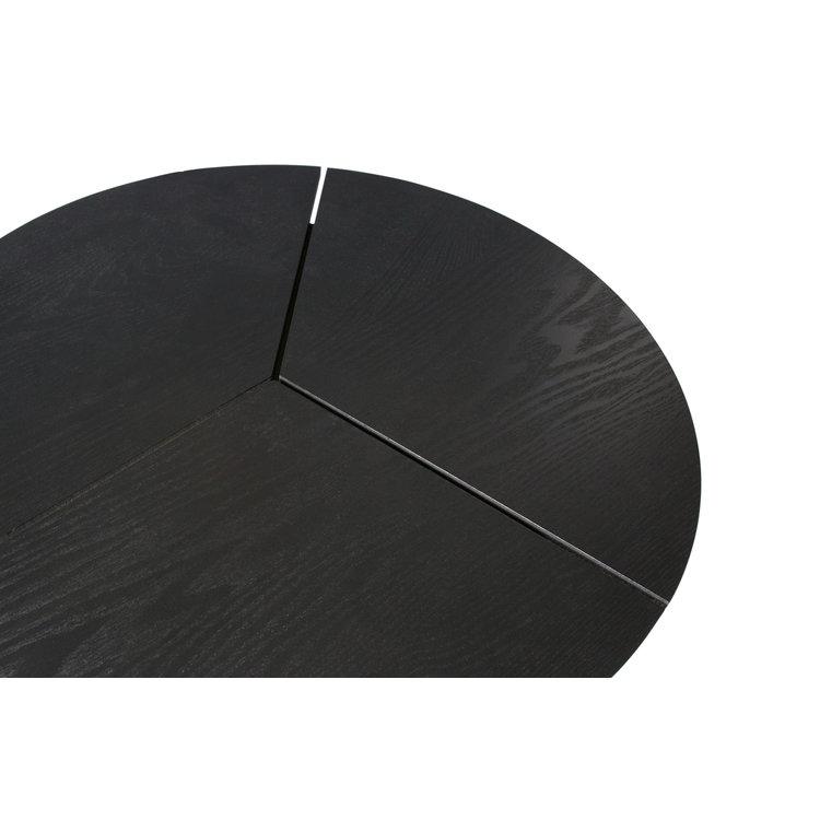 WOOOD WOOOD Bijzettafel Rodi M hout metaal zwart