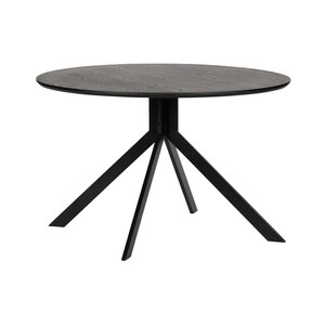 WOOOD Bruno Dining Table Mdf Black Ø120 Cm