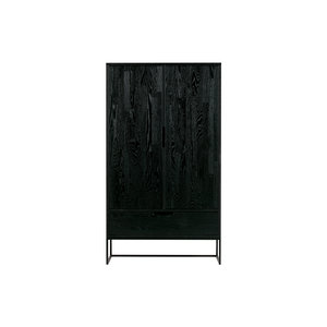 WOOOD Silas 2-doors Cabinet Oak Brushed Black Night [fsc]