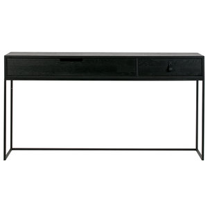 WOOOD Silas Sidetable Eiken Geborsteld Black Night [fsc]