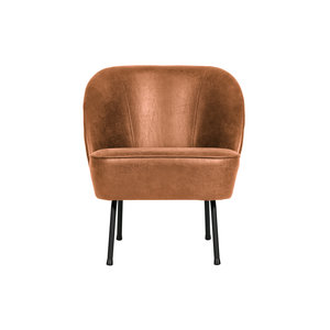 BePureHome Vogue fauteuil leer zwart of cognac