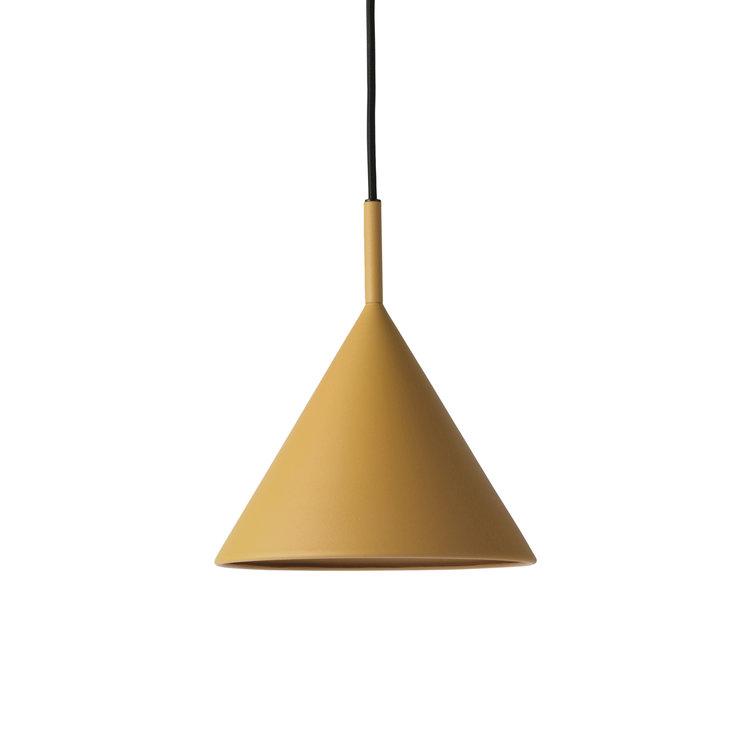 HKliving HKliving Hanglamp metalen driehoek hanglamp mat oker