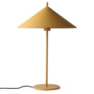 HKliving metalen driehoekige tafellamp L mat oker