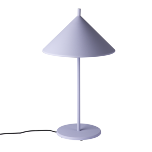 HKliving metal triangle table lamp M matt lilac