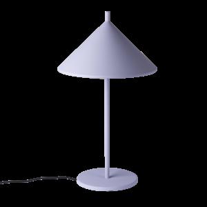 HKliving Metall dreieckige Tischlampe m matt lila