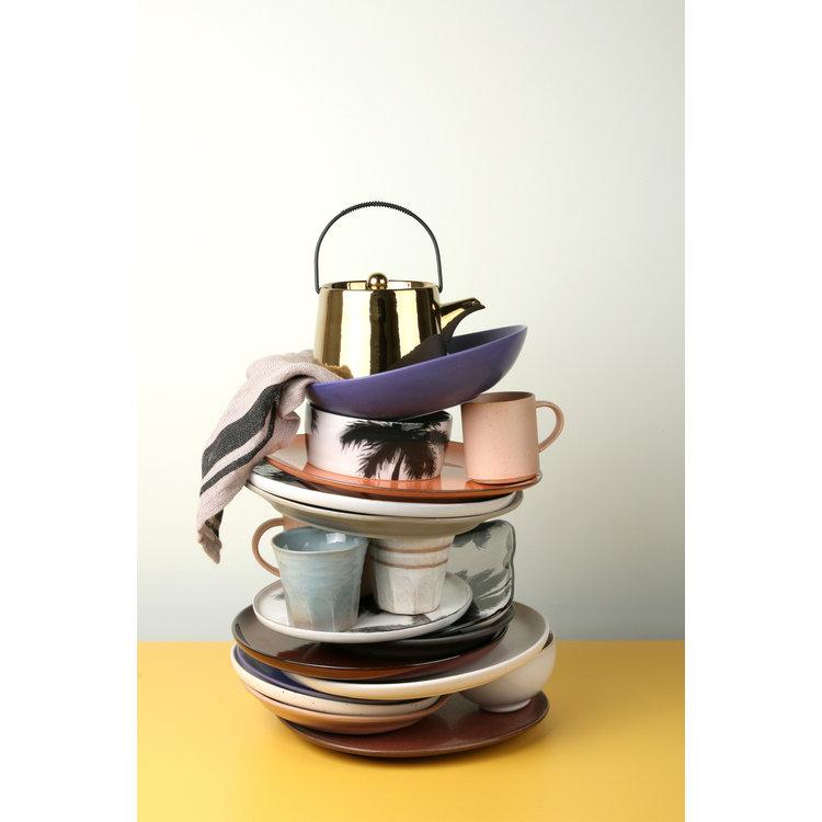 HKliving HKliving bold & basic ceramics: paarse zijplaat