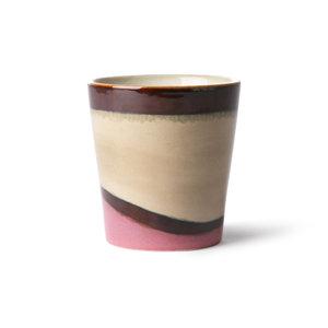 """HKliving Becher 70er Keramik: """"Dunes"""""""