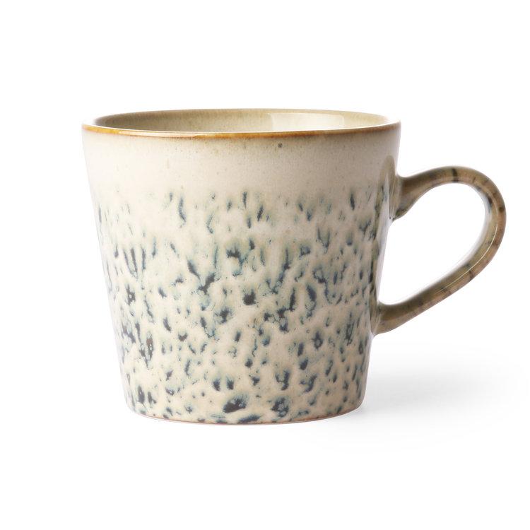 "HKliving HKliving Tasse Cappuccino 70er Keramik ""Hagel"""