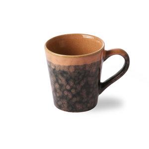 """HKliving HKliving Cup espresso 70's keramische """"Lava""""."""