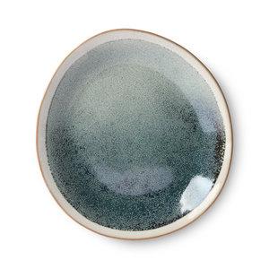HKliving 70s ceramics: side plates, mist (set of 2)