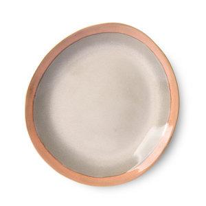HKliving 70s ceramics: dinner plates, earth (set of 2)