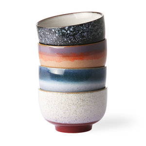 HKliving HKliving Bowls 70's Ceramic Set of 4