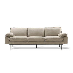 HKliving retro sofa: 4zits, cozy, beige