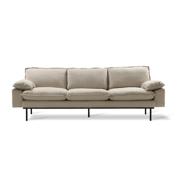 HKliving HKliving retro sofa: 4-seats, cosy, beige
