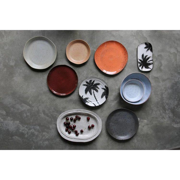 HKliving HKliving Dinnerplate Bold & Basic ceramic palms
