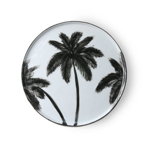 HKliving Dinnerplate Bold & Basic keramisch palmen