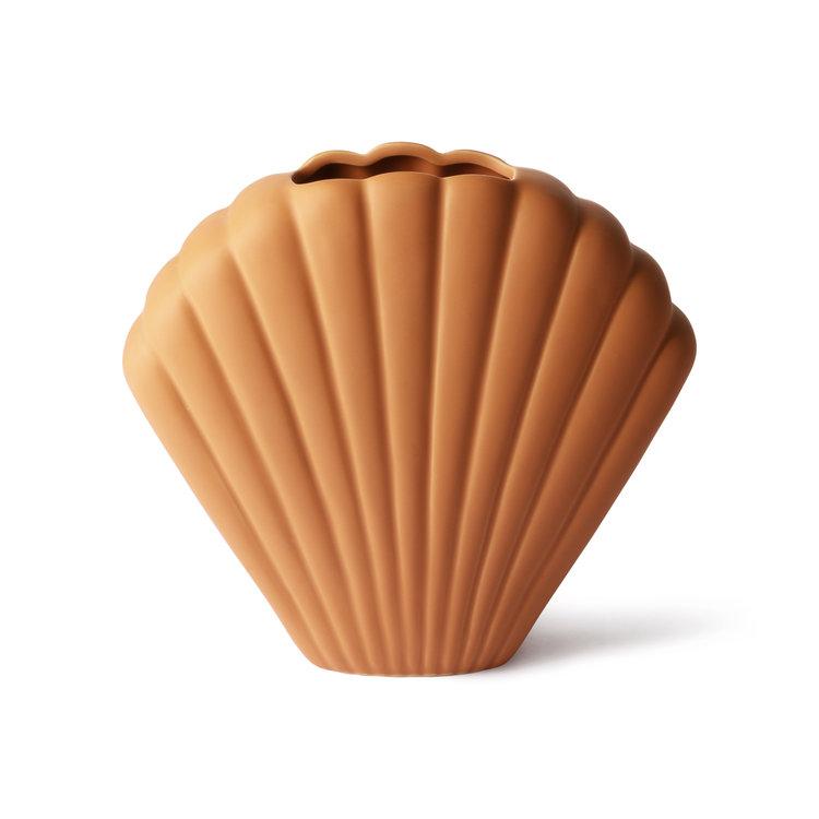 HKliving HKliving ceramic shell vase terra L