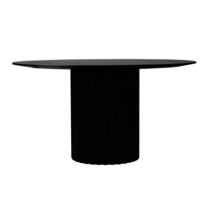 HKliving Pillar dining table around black