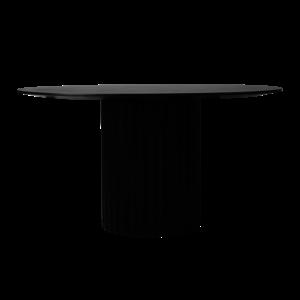 HKliving pillar dining table round black